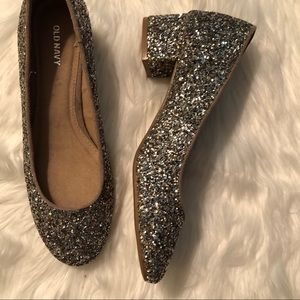 Old Navy Shoes - New Old Navy Sparkle Block Heel Pumps